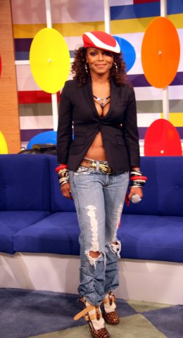 Janet Jackson Visits 106 and Park - July 31, 2006