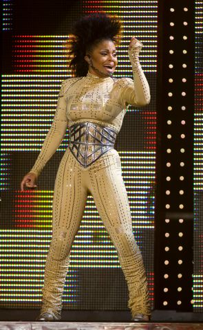 Sept 28 2008- Janet Jackson singing at the Air Canada Centre Sunday evening as part of her Rock Witc