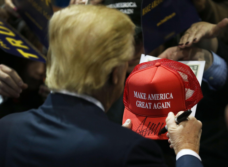 GOP Presidential Candidate Donald Trump Campaigns In Cedar Falls, Iowa