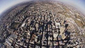 Aerial View of Johannesburg - Fisheye