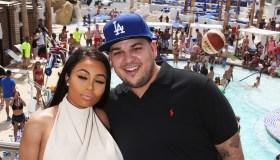 Rob Kardashian And Blac Chyna At Sky Beach Club