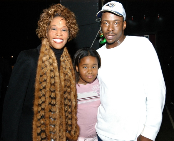 Whitney Houston and Bobby Brown Attend 'Praise Power' Concert