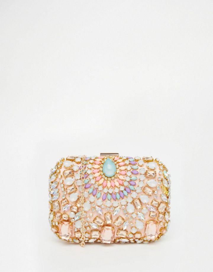 ASOS Vintage Styler Embellished Gem Clutch Bag
