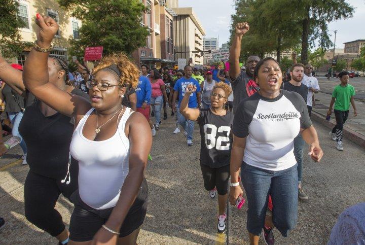 Baton Rouge Protestors