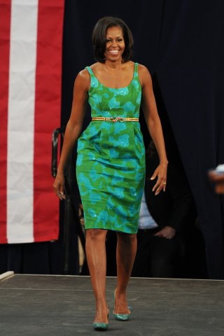 Michelle Obama Speaks At Miami High School