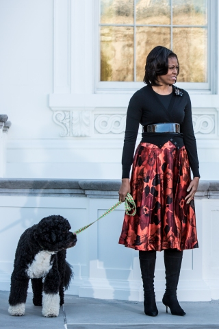 Michelle Obama Presented With Official White House Christmas Tree