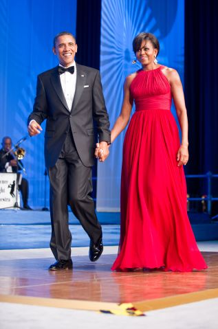 US President Barack Obama and his wife M
