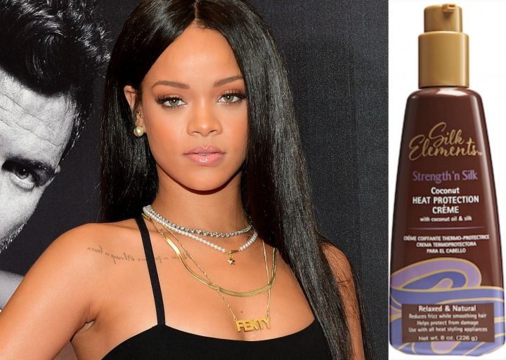 Achieve Rihanna's Sleek 'Do With Silk Elements™ Strength 'n Silk Coconut Heat Protection Cream