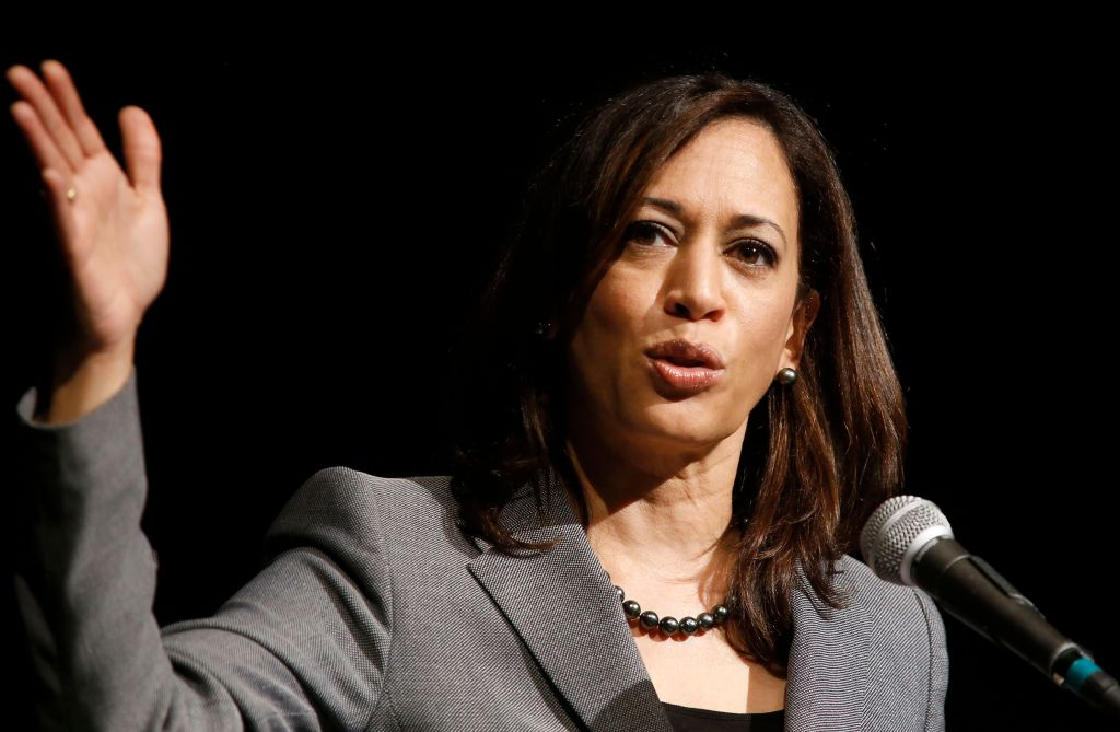 LOS ANGELES, CALIFORNIA - JANUARY 30, 2015: California Attorney General Kamala Harris speaks at Aker