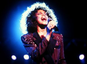 Whitney Houston, Sängerin, Auftritt, Mikrophon, Promis, Prominen