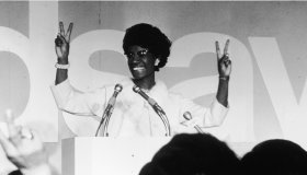 Shirley Chisholm Gives the Victory Sign