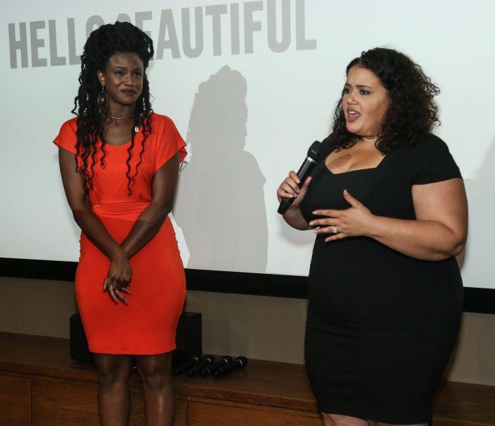 HelloBeautiful's Keyaira Kelly and Editorial Director Allison McGevna speak during Q&A