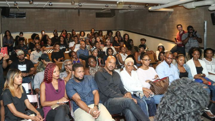 The beautiful crowd during HelloBeautiful's screening of 'Southside with You'
