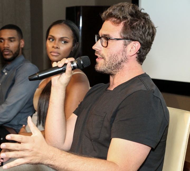 Director Richard Tanne speaks during HelloBeautiful's screening of 'Southside with You'