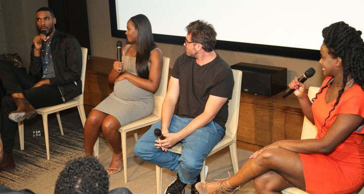 Keyaira Kelly moderates panel with director Richard Tanne, Tika Sumpter, and Parker Sawyers