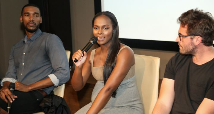 Parker Sawyers, Tika Sumpter, & Director Richard Tanne speak during the screening of 'Southside with You'