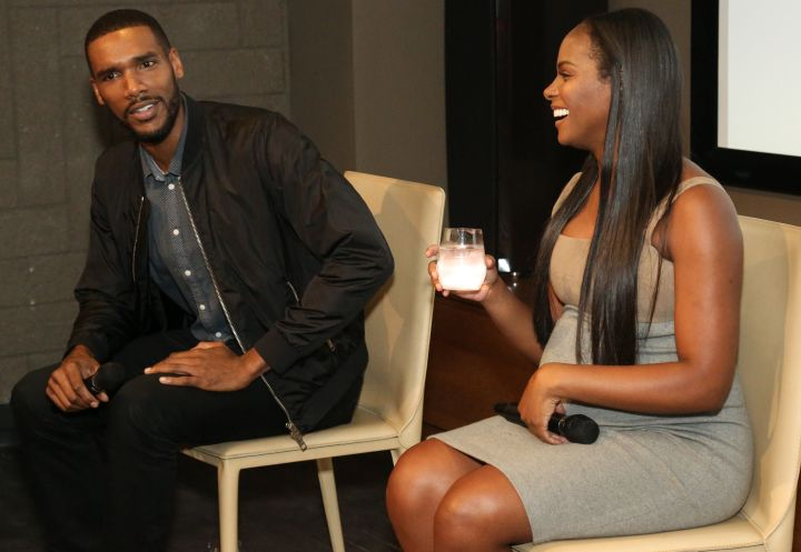 Parker Sawyers & Tika Sumpter during HelloBeautiful's Q&A for 'Southside with You'