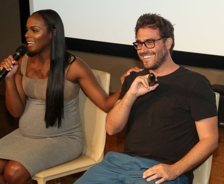 Tika Sumpter & Richard Tanne speak during HelloBeautiful's Q&A for 'Southside with You'