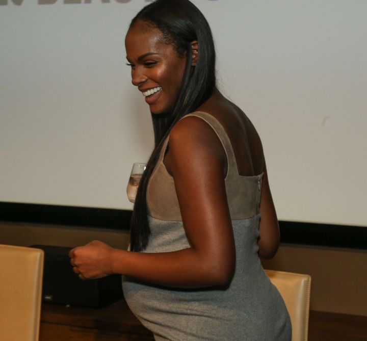 Tika Sumpter entering HelloBeautiful's Q&A for 'Southside with You'