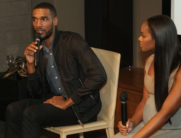 Parker Sawyers & Tika Sumpter speak during HelloBeautiful's Q&A for 'Southside with You'