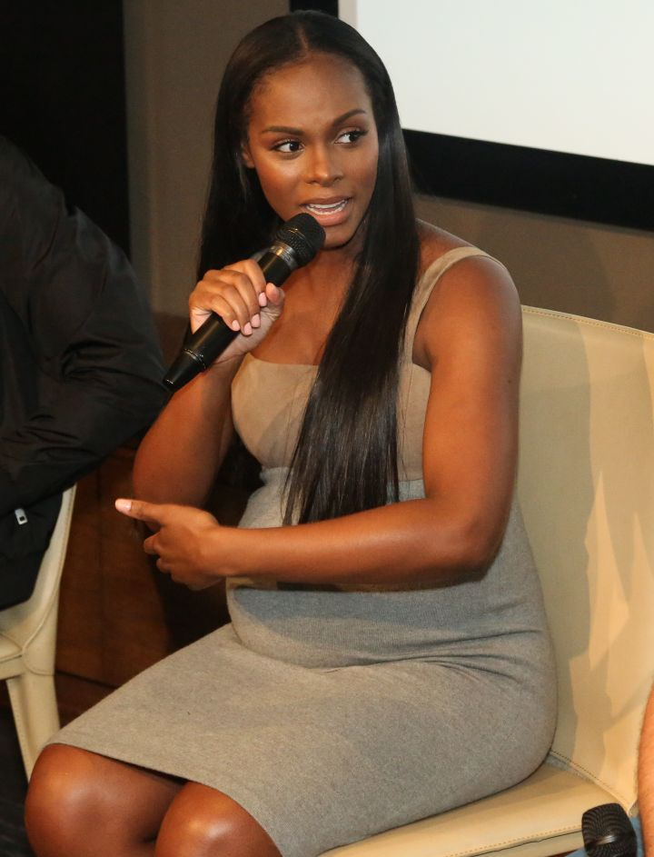 Tika Sumpter speaks during HelloBeautiful's Q&A for 'Southside with You'