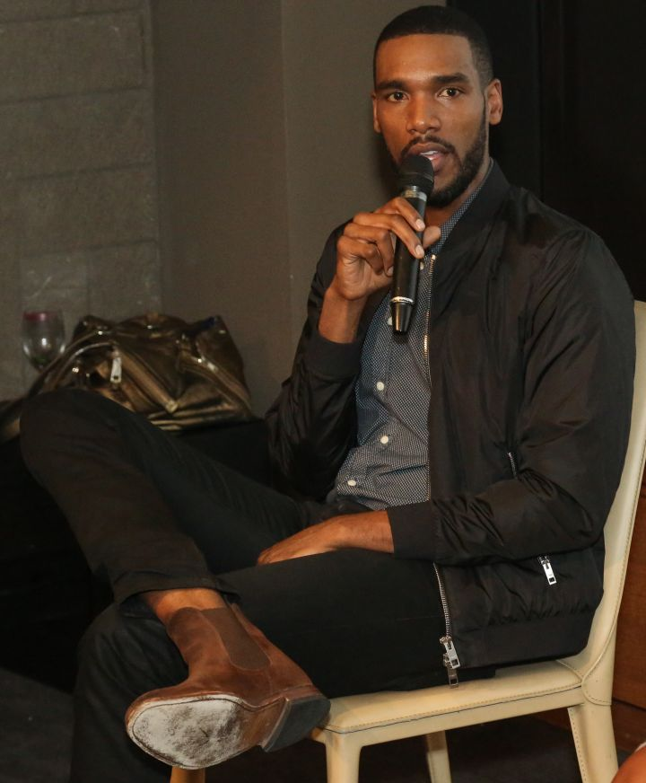 Parker Sawyers speaks during HelloBeautiful's Q&A for 'Southside with You'