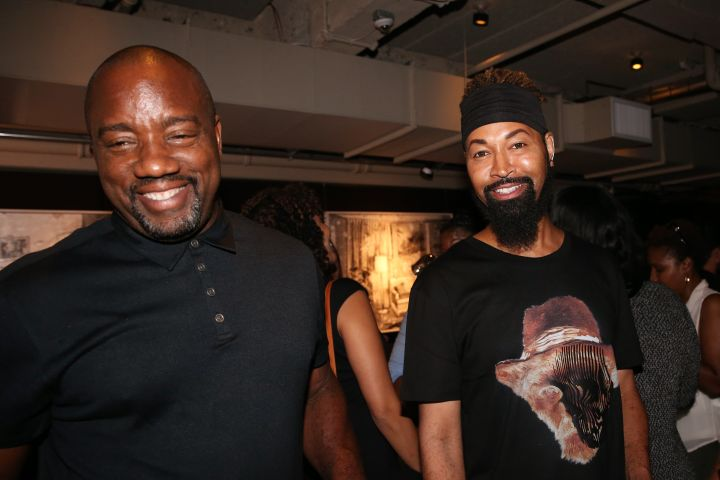 Malik Yoba &Ty Hunter laugh during HelloBeautiful's screening of 'Southside with You'