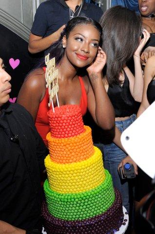 Justine Skye Celebrates Birthday With Skittles Cake