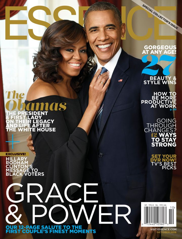 First Lady Michelle Obama & Barack Obama Cover Essence