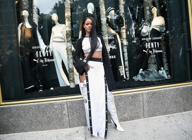 Rihanna Celebrates The Launch Of Her Collection, FENTY PUMA By Rihanna With Bergdorf Goodman