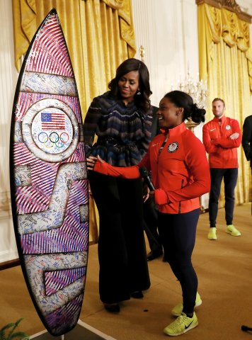 President And Mrs. Obama Welcome 2016 U.S. Olympians To The White House
