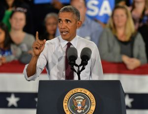 US President Obama in Charlotte for Democrats electoral rally