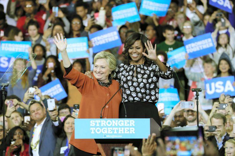 Michelle Obama Campaigns With Hillary Clinton In North Carolina