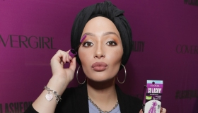 DJ, host, model and actress Amy Pham and beauty blogger Nura Afia offer a sneak peek at the new COVERGIRL So Lashy mascara and commercial that promotes #LashEquality in New York City