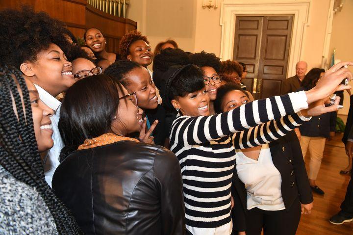 Janelle Monae Talks 'HIDDEN FIGURES' with Atlanta HBCU Students at Spelman Convocation