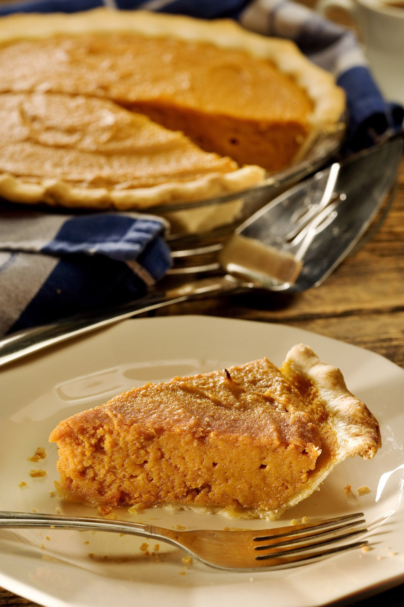 From the book, 'Food For The Soul,' a sweet potato pie. Swee