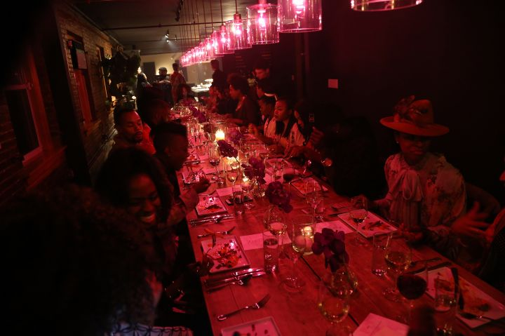 Erykah Badu Hosts Soul Train Soul Food Vegan Dinner Party