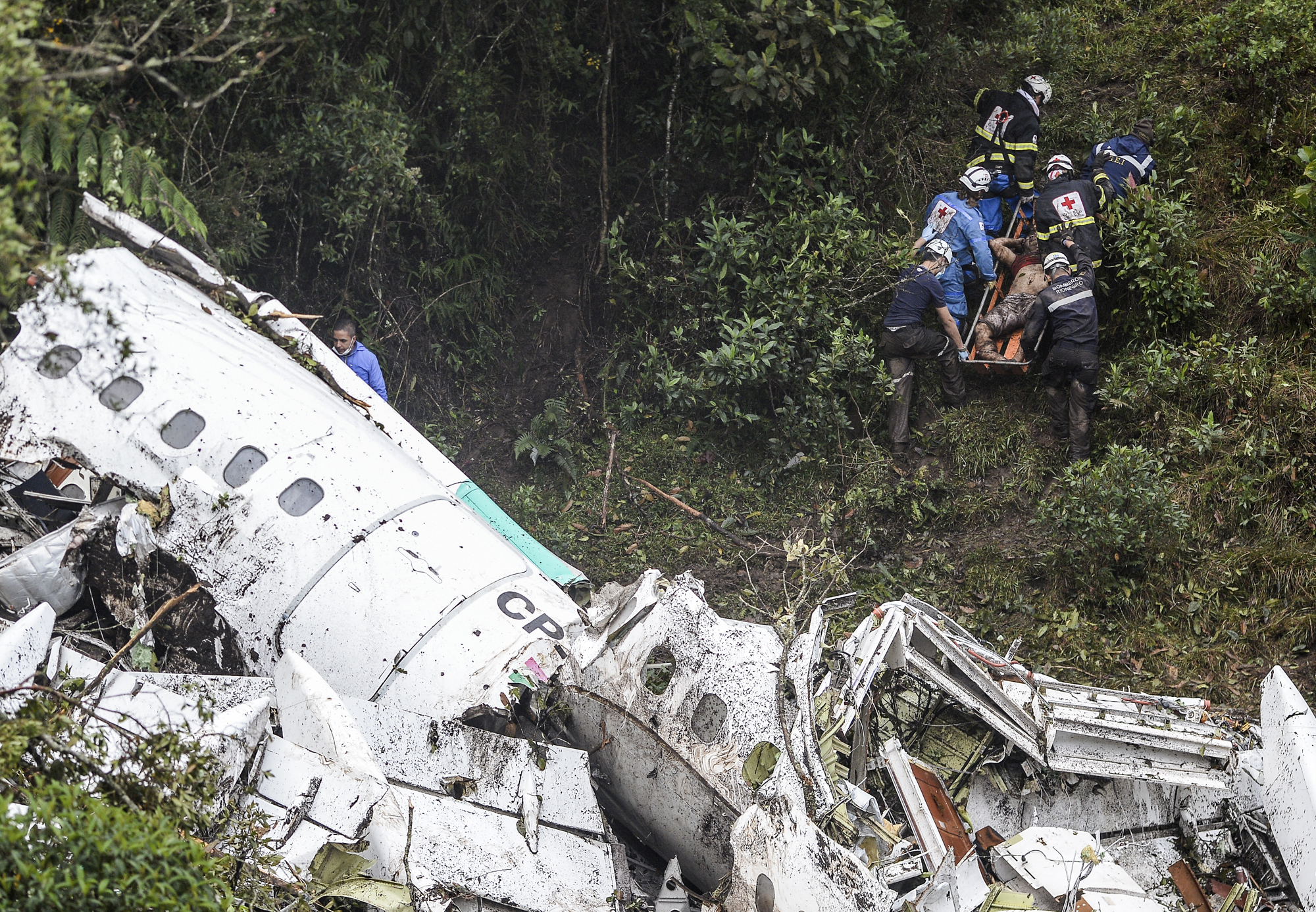 FBL-COLOMBIA-BRAZIL-ACCIDENT-PLANE