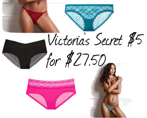 Victoria Secret $5 for $27.50