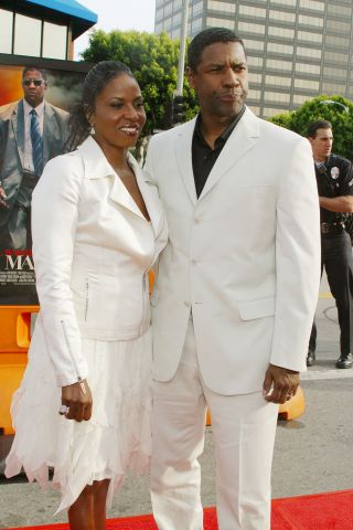 Denzel Washington and wife Pauletta; Man on Fire Premiere; Mann's National Theater; Westwood, CA; 04/18/2004