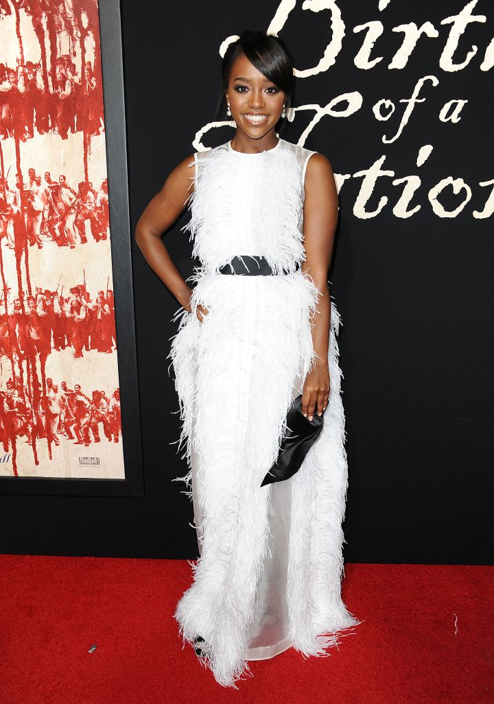 AJA NAOMI KING BIRTH OF A NATION PREMIERE