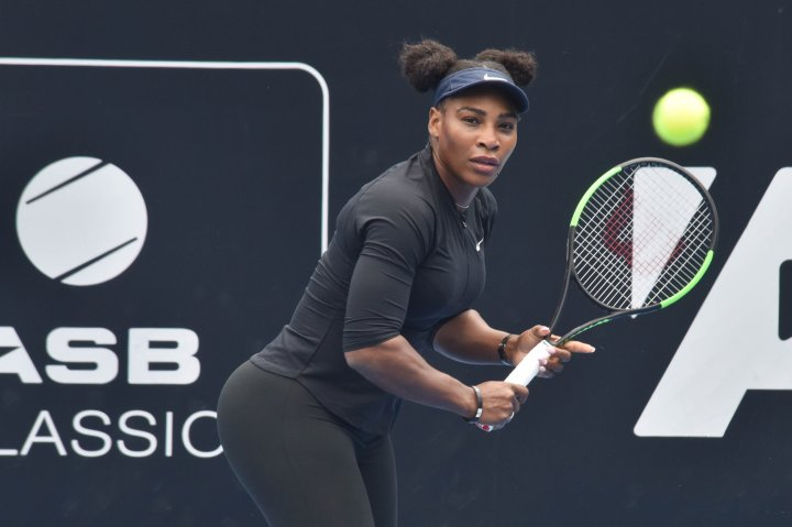 Tennis super star Serena Williams during a training session...