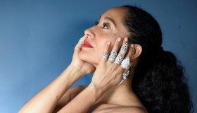 Tracee Ellis Ross Prepares For The 74th Annual Golden Globe Awards