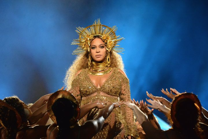 Beyoncé Performing At The 59th GRAMMY Awards In 2017