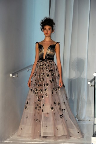 Reem Acra present her Spring-Summer 2017 collections as part...