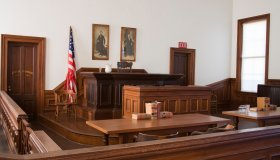Courtroom in Courthouse State Historic Park.