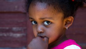 Portrait of a cute ethiopian girl, Addis Ababa region, Addis Ababa, Ethiopia...
