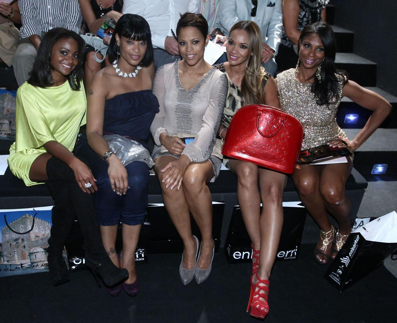 Celebrities attend Cibeles Madrid Fashion Week S/S 2011 - Day 2