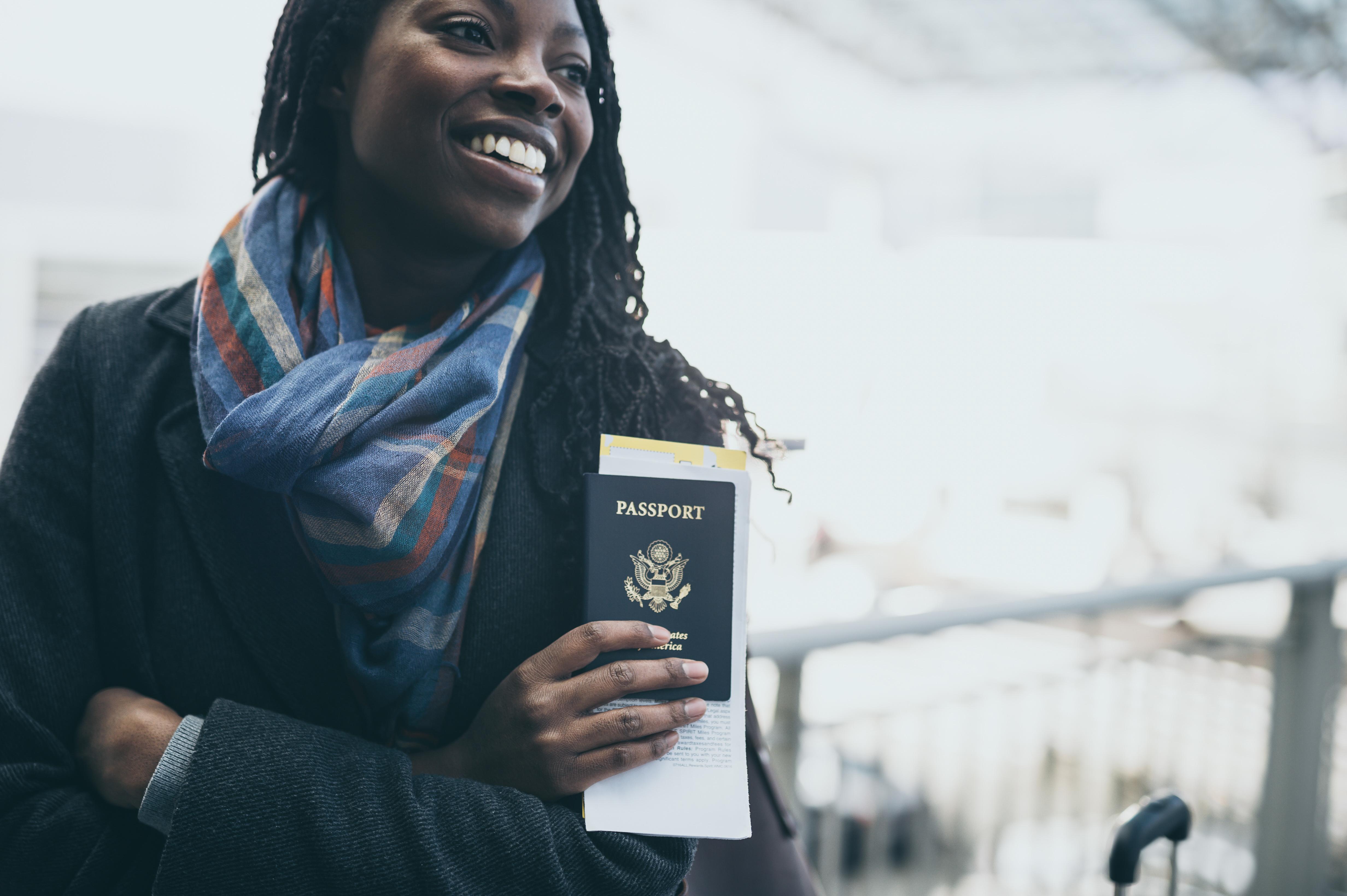 Young woman at airport