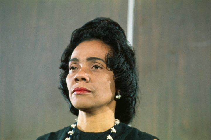 Coretta Scott King in a Serious Pose